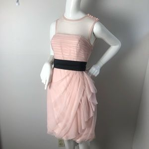 Vera wang White Formal Dress Blush Draped Tulle 8